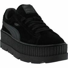 5c010cb175a79c PUMA Fenty Rihanna Cleated Platform Creeper Black Suede Sneaker Mens 12 46