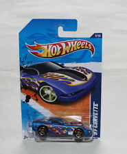 2011 Hot Wheels Heat Fleet 11 #95 1997 Corvette Matte Blue New