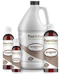 Sweet Almond Oil 100% Pure Natural Carrier For Skin, Face, Hair Growth & Massage