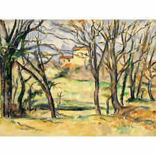 Cezanne Trees Houses Near Jas De Bouffan Painting XL Wall Art Canvas Print