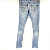 Levi's 524 Too Superlow Skinny Light Wash Stretch Denim Blue Jeans Size 0