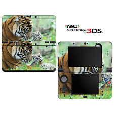 Vinyl Skin Decal Cover for Nintendo New 3DS - Sweet Baby Tiger Cub with Mom