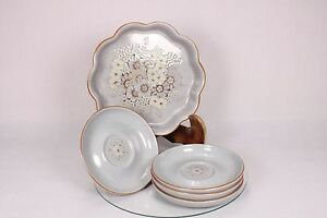 DENBY REFLECTIONS STONEWARE QUICHE FLAN SERVING DISH PLATE SAUCERS REPLACEMENTS