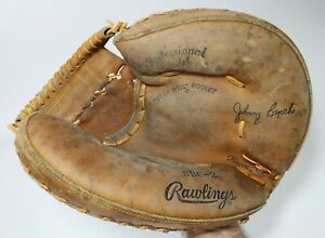 Vintage Rawlings Johnny Bench SBC-2 Catcher Mitt Professional Model Japan