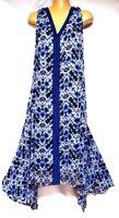 TS dress TAKING SHAPE plus sz M / 18 -20 Blue Tile Maxi Dress summer NWT rrp$120
