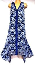 TS dress TAKING SHAPE plus sz M / 18 -20 Blue Tile Maxi Dress summer NWT rrp$120