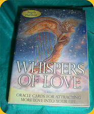 Whispers of Love Oracle Cards Deck Angela Hartfield  - New Sealed Box