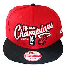 New Era NBA Miami Heats 9FIFTY Snapback Hat 2012 NBA Final Champions Logo Cap