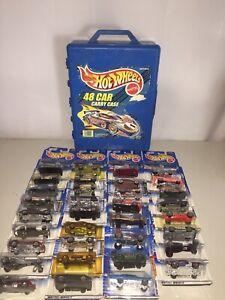 1998 TARA TOY, HOT WHEELS MATTEL 48 CAR CARRYING CASE & 35 SEALED CARS BUNDLE