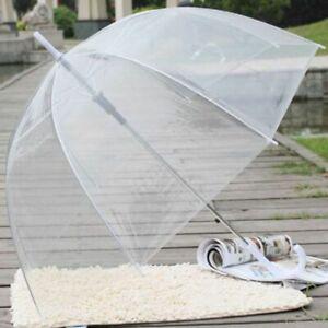 Umbrella Transparent Windproof Dome Shape Clear Umbrella Wedding Fashion Parasol