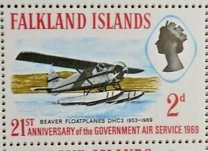 FALKLAND ISLANDS 1969 SG246  - 2d. ANNIVERSARY OF GOVERNMENT AIR SERVICE - MNH