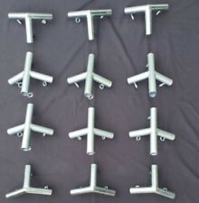 NEW! 4 Rafter Canopy Fittings (12 pc) Angle Kit for DIY Wall Tent Frame