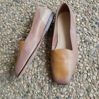 Enzo Angiolini Brown Tan Leather Flats Size 6.5M