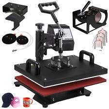 9 In 1 Digital Heat Press Machine Sublimation For T-Shirt/Mug/Plate Printer 110V