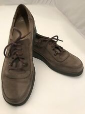 Durea Greenway Womens 5.5 Brown Leather Lace Shoes Holland EUC