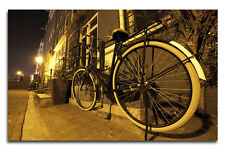 Light up Classic Bike Canvas with LED Lights -  Perfect Gift - Vintage feel