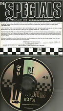 THE SPECIALS It's You w/ EDIT 1991 PROMO DJ CD Single MIGHTY BOSSTONES Prodigy