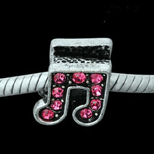 European Style  BEAD music note charm - pink  Buy any 15 get a FREE BRACELET!