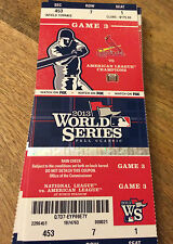 2013 CARDINALS WORLD SERIES GAME 3 STUB SEASON TICKET STOCK RED SOX 6000023