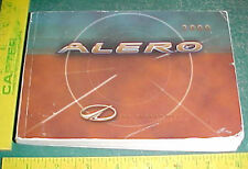 2000 OLDS ALERO ORIGINAL PRINT OWNER'S MANUAL vg- condition