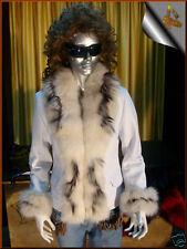 Giacca Giubbino Giubbotto in di pelle pelliccia donna!!