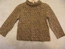 "Gymboree ""Glamour Kitty"" Brown Leopard Print Turtleneck Top, 3T"