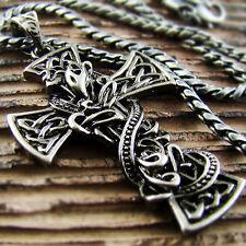 Pendant Necklace Chain Rider Punk 51 Mens Retro Hiphop Big Celtic Snake Cross