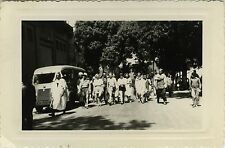 PHOTO ANCIENNE - VINTAGE SNAPSHOT - CAMION CAMIONNETTE FOURGON TUBE RUE - TRUCK