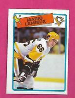 1988-89 OPC # 1 PENGUINS MARIO LEMIEUX   NRMT CARD   (INV# D4446)