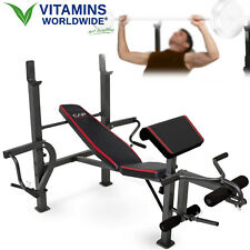 STANDARD WEIGHT BENCH Strength Training Butterfly Preacher Curl Fitness Workout
