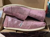 TOMS Pink Glitter Shoes 4.5 On The Box But More Like 4 Or 3.5! Tom's