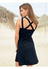 Sommer Sonne Sexy Kleid raffinierter Rücken WOW in schwarz Gr. 34 Neu