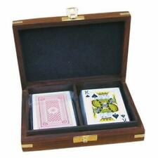 New listing Playing Cards Double Box, Kartenbox IN Maritim Style from Hardwood With Game