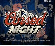 Cursed Night Novelty Halloween Beer Bottle Label - Mock Coors Light Label GLOWS
