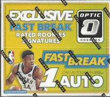 2017-18 Panini Optic Fast Break Basketball box 1 auto per box Tatum Mitchell etc