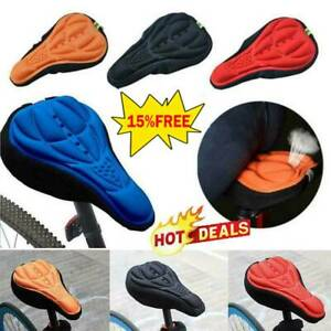 Bike Bicycle Silicone 3D-Gel Saddle Seat Cover Comfort Pad Padded Soft Cus-HOT