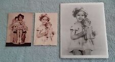 Vintage Shirley Temple 8X10  Publicity Photo Doll and 2 Postcard 4X6 Inch  Lot