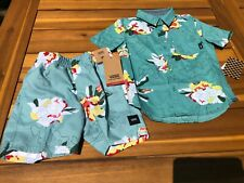 Vans New Canton Paint By Numbers Short Sleeve & Shorts Boy's Youth 5/M