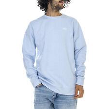 Vans Mn Basic Fleece - Heather Blue - Felpa Girocollo Uomo Azzurro