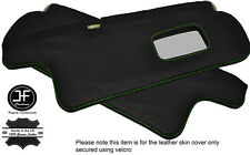 GREEN STITCHING 2X SUN VISORS LEATHER COVERS FITS TOYOTA COROLLA GT AE82