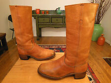 Vtg FRYE Men's Golden Tan Leather Campus Urban Hipster Boots 9.5D USA!