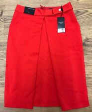 "Next Womens Tailoring Red A Line Formal Office Work Skirt 6UK W27"" Length 23.5"""