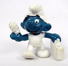 Vtg 1978 Smurfs Peyo FIRST AID Smurf 20054 Schleich Hong Kong PVC Figure Toy