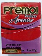 M00615 MOREZMORE Premo Accents Sculpey RED GLITTER 5051 2 oz Polymer Clay A60