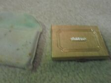 Vintage Max Factor Gold Compact with Jeweled Top Cover