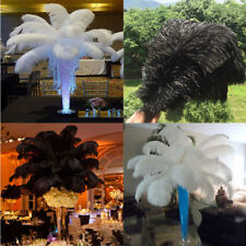 10-100pcs ostrich feathers 12-14 inches/30-35cm wedding beautiful(white black)