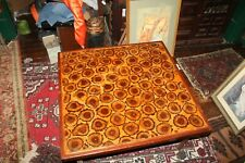 """Vintage Mid Century 1960's Coffee Table Epoxy and End Cut Wood 32"""" x 32"""" x 15"""""""
