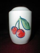 Corelle Jay Imports FRUIT BASKET/TOO 2 Hole Red Cherry Salt/Pepper Shaker