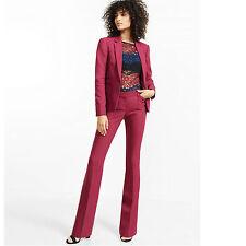 Burgundy Ladies Trouser 2 Piece Suit Women's Workwear Suits Formal Business Suit