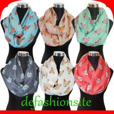Markenlose Damen-Schals mit Fuchs-Motiv
